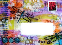 Mail art envelope (dragonflies)