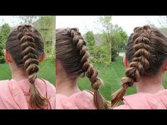 French Pull Through Braid  HairByRachel - YouTube