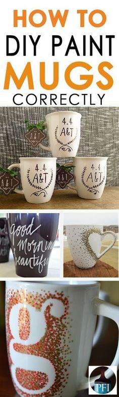 Everyone has seen those cute DIY painted mug pictures on pinterest. How do you do it? Learn how to make personal mugs the right way!