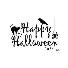 viva decor a4 universal stencil happy halloween 738