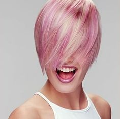 Hair blonde and pink for urban girls