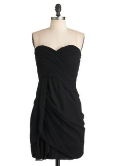 Wave to the Crowd Dress in Black, #ModCloth