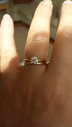 .5 carat solitaire on size 5.5 hand with 6 prongs