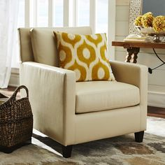 Darren Club Chair - Ivory | Pier 1 Imports