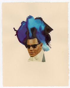 lorna simpson  Shades, 2012  Collage, and ink on paper  11.25 × 8.5 inches (29 × 22 cm)