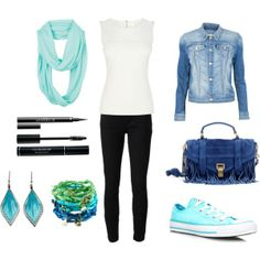 """blue inspired"" by milky-silvers on Polyvore"