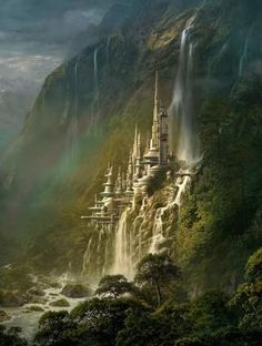 Waterfall Castle, Poland by sunnyloveme