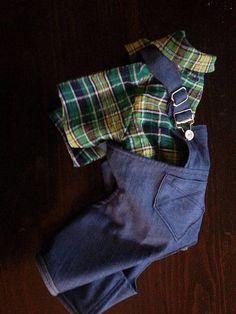 f0f58c0628 Custom Made Dog Clothes  Custom Made Dog Overalls and Shirt  Dog Jeans  Costume  Pet Farmer Costume  Pet Jeans Costume  Dog Pants  Dog Shirt