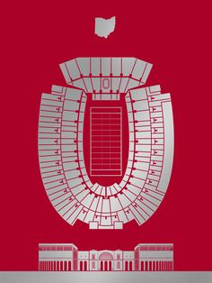 Ohio Stadium Screenprint, Ohio Stadium Screenprint, OSU Logo Block O von buckeyekes auf deviantART osu logo Adriatico's Pizza ( Buckeyes Football, Ohio State Football, Football Stadiums, Ohio State University, Ohio State Buckeyes, American Football, College Football, Football Team, Ohio Stadium
