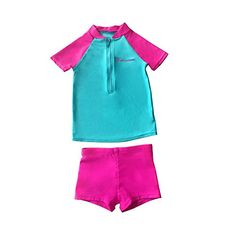 BALNEAIRE Girls Two Piece Swimsuits UPF 50+ Zipper Swimwear for Kids Rash Guard Size 12-13 Pink - About BALNEAIRE:BALNEAIRE is a global brand of high quality and fashionable swimming products. We have over 30 years of experience of designing, manufacturing, branding and selling, including swimwear, swimming goggles and swimming caps. We aim to provide you with excellent experience of our prod...