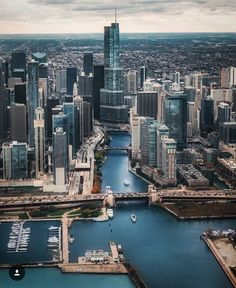 that's an angle you don't often see | Chicago looking west along the main branch of the river
