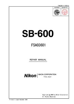 SB600 repair manual. Complete step by step disassemble guide.