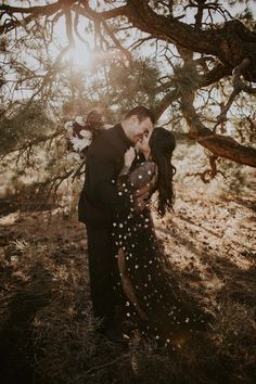 Planning a Halloween wedding? Or just love the edgy look of a black wedding dress? We've rounded up 32 of our favorite black wedding dresses that will totally make a statement on your wedding day. Say hello to the prettiest black wedding gowns you've ever seen.