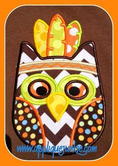 Indian Owl Applique Design