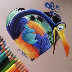 Behind The Scenes By art_spotlight Amazing Drawings, Realistic Drawings, Cool Drawings, Horse Drawings, Disney Character Drawings, Cute Disney Drawings, Polychromos, Disney Quilt, Mandala Drawing
