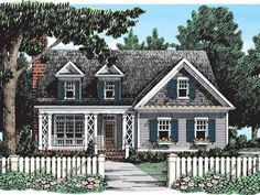 Country House Plan with 1863 Square Feet and 3 Bedrooms from Dream Home Source | House Plan Code DHSW38733