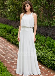 Evening Dresses - $132.99 - A-Line/Princess Scoop Neck Floor-Length Chiffon Evening Dress With Ruffle Lace Beading (017028329) http://jjshouse.com/A-Line-Princess-Scoop-Neck-Floor-Length-Chiffon-Evening-Dress-With-Ruffle-Lace-Beading-017028329-g28329