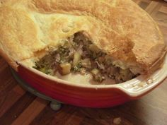 Welsh meat, leek and cheese pie