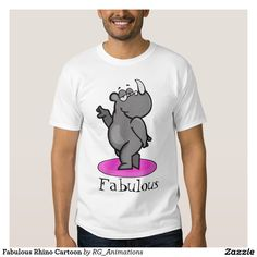 Fabulous Rhino Cartoon Shirts