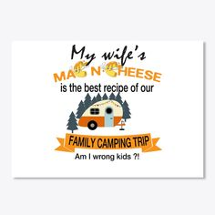 My wife's mac n cheese is the best recipe of our family camping trip, am I wrong kids? Camping List, Camping Checklist, Beach Camping, Camping Hacks, Camping Gear, Outdoor Camping, Family Glamping, Romantic Camping, Am I Wrong