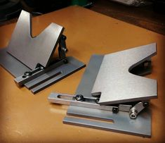 A couple Adjustable Work Rests for the Beaumont / KMG EF-48 horizontal grinder…
