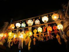 Loi Krathong festival in Chiang Mai, Thailand.