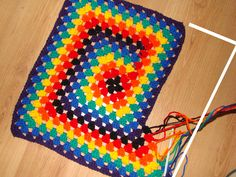 Crochet Afghan: Free pattern. This one is one I want to try, because you have the fabulousness (yes spell check, it is a word now) of a multi-colored afghan without the hassle of finishing off and reattaching colors-what an interesting technique! For SURE going to try this, I'm thinking shades of pinks for a girl, blues for boy and wouldn't red, white, blue look cute too?