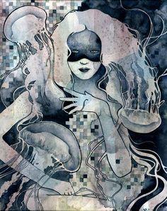 Redemption - Illustrations by Kelly McKernan | Art and Design