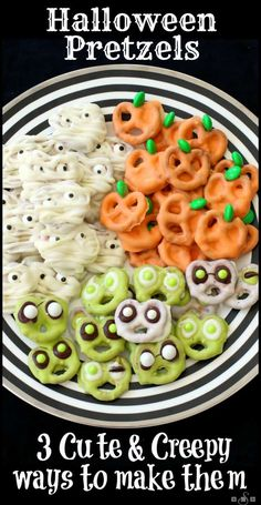 Hallowen Halloween Pretzels: 3 Cute & Creepy Ways to Make Them, from Butter With A Side o. , Halloween Pretzels: 3 Cute & Creepy Ways to Make Them, from Butter With A Side o. Halloween Pretzels: 3 Cute & Creepy Ways to Make Them, from Butter. Halloween Cupcakes, Dessert Halloween, Halloween Goodies, Halloween Food For Party, Spooky Halloween, Halloween Chocolate, Easy Halloween Treats, Halloween Stuff, Halloween Crafts