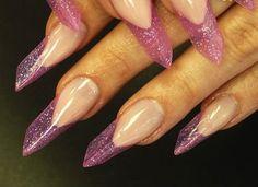 French Tip Stiletto Nails, Nail Design, Nail Art