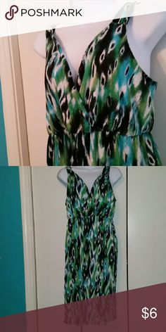 fun summer dress! pretty low cut, wear with a cami,  flattering and soft, hits at my knees new directions Dresses Midi
