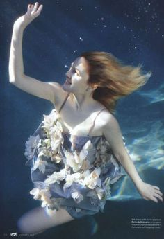The underwater fashion photography by Zena Holloway