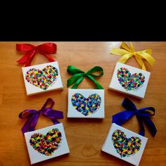 hand print valentine door hangers | Valentine's day gifts for the moms and dads from the kids ...