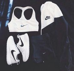 #nike #shoes #shorts #blackandwhite #top #outfit