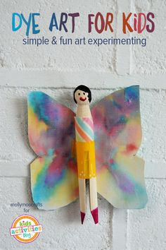 Dye Art Projects For Kids Without The Inky Mess - includes four cool craft ideas | mollymoocrafts.com for #kidsactivitiesblog