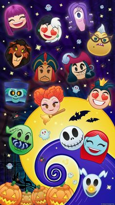 Disney, halloween, and haunted mansion image. Halloween Wallpaper Iphone, Disney Wallpaper, Iphone Wallpaper, Disney Love, Disney Art, Disney Pixar, Disney Halloween, Tsumtsum, Disney Tsum Tsum