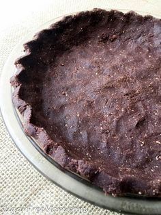 No Bake Coconut Flour Chocolate Pie Crust (Low Carb, Nut Free, Gluten Free)