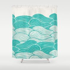 The Calm and Stormy Seas Shower Curtain by Pom Graphic Design  - $68.00