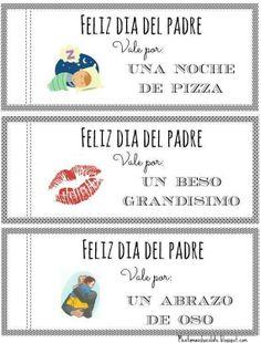 Menta Más Chocolate - RECURSOS PARA EDUCACIÓN INFANTIL: Vales para el Día del Padre