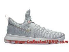 detailed look 37c08 ddbc1 Nike KD 9 Pre Heat 843396-090 Chaussures Nike Officiel Pas Cher Pour Homme  Gris