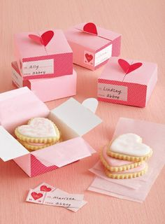 Some irresistible treat boxes from our very own Martha Stewart Crafts team! http://msc.eksuccessbrands.com/Product/Valentines+Day+Heart+3x3+...