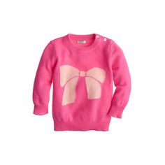 Crew Cashmere baby sweater in big bow (err, if it goes on sale. Baby & Toddler Clothing, Toddler Girl, Baby Kids, Baby Baby, Girl Clothing, Big Bows, Cute Bows, Little Fashionista, It Goes On