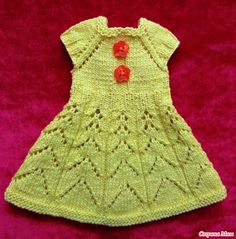 Платье спицами для Paola Reina Crochet Art, Crochet Patterns, Knit Baby Dress, Sasha Doll, Baby Knitting, American Girl, Baby Dolls, Doll Clothes, Short Sleeve Dresses