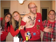 This dude upped the ugly sweater bar right here..
