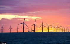 Huge wind farm could cost you £10.5 billion in subsidies  Growth: The new windfarm off the Yorkshire coast would dwarf this one, Walney, off Cumbria