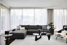 Sisalla Interior Design has recently completed a new project in Toorak, Melbourne. The interiors were designed to balance a contemporary minimal house with a welcoming ambience. The public spaces have a quiet luxury with a focus on contrasting texture whilst the private realm has softer materials to create warmth and relaxation. A few key stats …