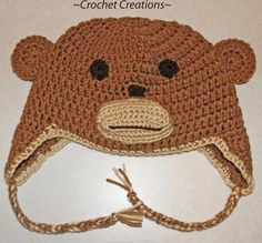 Crochet Creative Creations- Free Patterns and Instructions: Crochet Monkey Child Ear flap Hat