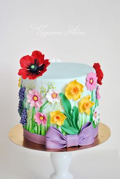 cake with wildflowers Gorgeous Cakes, Pretty Cakes, Amazing Cakes, Big Cakes, Fancy Cakes, Cupcakes, Cupcake Cakes, Wildflower Cake, French Cake