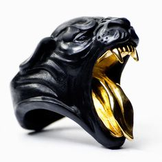 PANTHER RING by Macabre Gadgets MARBLE & GOLD STORE-MACABREGADGETS.COM