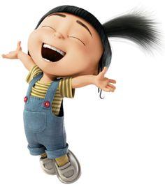 Agnes is the happiest child in the world 😍 Benjamin Bratt, Agnes Despicable Me, Ken Jeong, Cute Minions, Steve Carell, Miranda Cosgrove, Cute Cartoon Wallpapers, Cute Disney, Disney Wallpaper